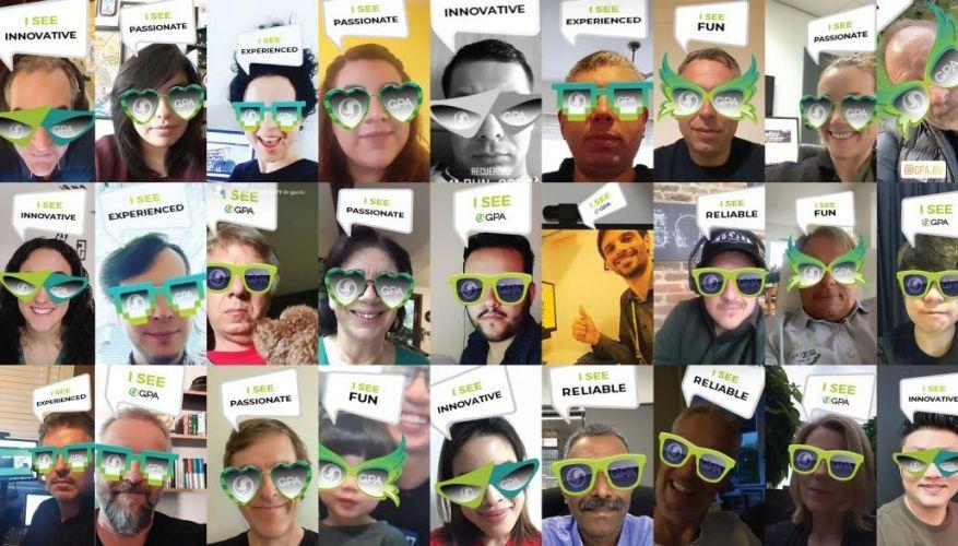 GPA Unite Summit Virtual Event Team Instagram Filter