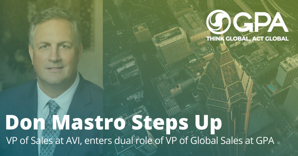 AVI Systems Sales Vice President Don Mastro Named to Dual Role at GPA